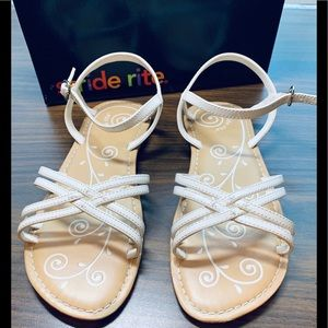Open-toed White Sandal by Stride Rite Size 2.5 NEW